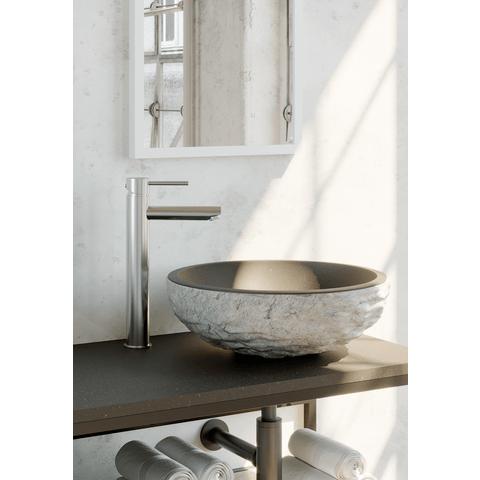 Brauer Chrome Edition wastafelkraan opbouw verhoogd chroom