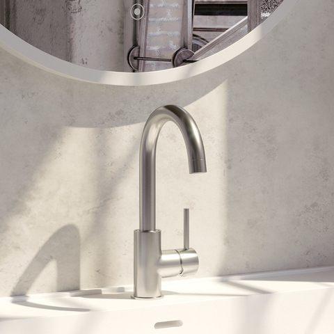 Brauer Brushed Edition wastafelkraan opbouw draaibare uitloop geborsteld nikkel PVD