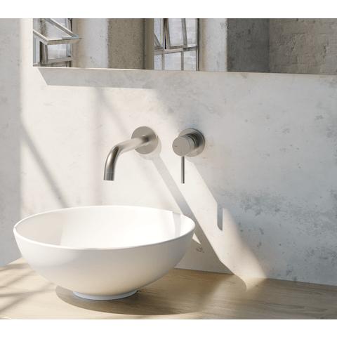 Brauer Brushed Edition inbouw wastafelkraan - hendel 1 - geborsteld nikkel PVD