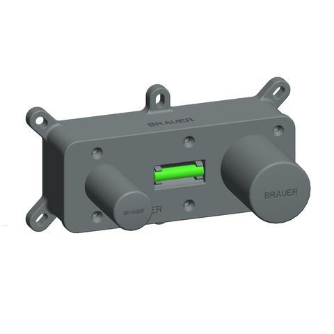 Brauer Brushed Edition inbouw wastafelkraan I-model - hendel 2 - geborsteld nikkel PVD