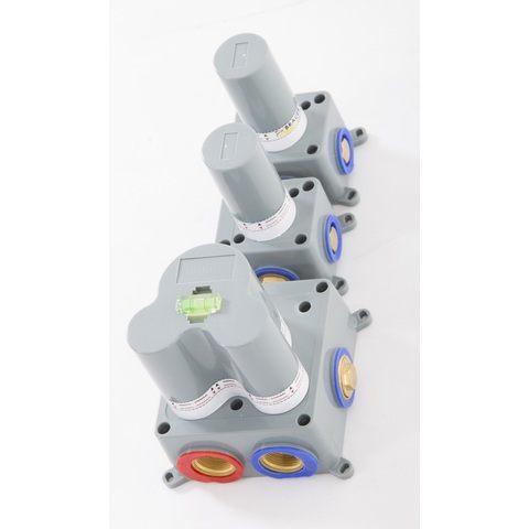 Brauer Brushed Edition thermostatische inbouw doucheset - geborsteld nikkel PVD - hoofddouche 20cm - wandarm - staafhanddouche