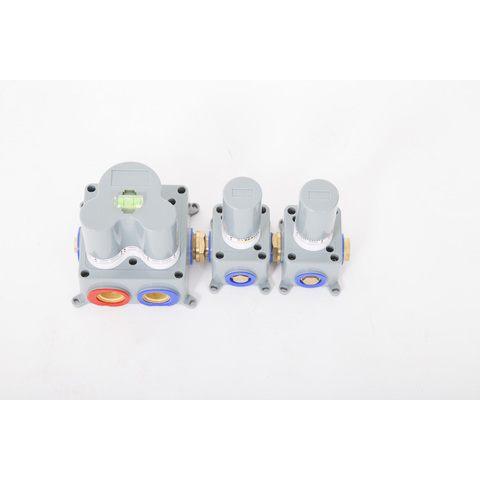 Brauer Brushed Edition inbouw badthermostaat met badafvoer/vulcombinatie - staafhanddouche - geborsteld nikkel PVD