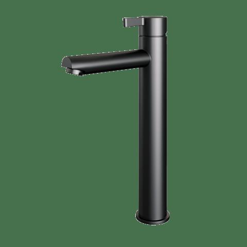 Brauer Black Edition wastafelkraan verhoogd - hendel 2 - mat zwart