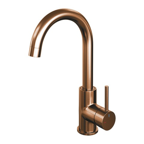 Brauer Copper Edition wastafelkraan hoog - hendel 1 - geborsteld koper PVD