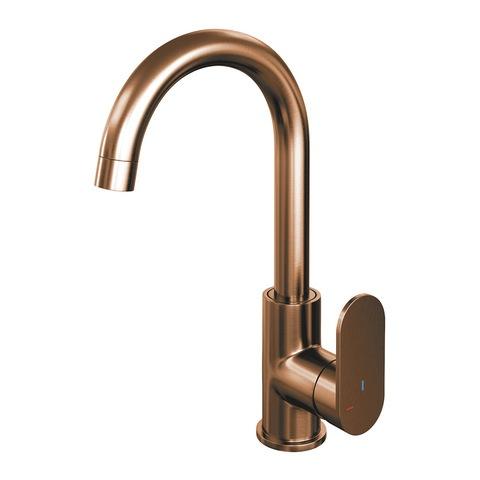 Brauer Copper Edition wastafelkraan hoog - hendel 3 - geborsteld koper PVD