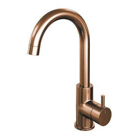 Brauer Copper Edition wastafelkraan hoog - hendel 5 - geborsteld koper PVD