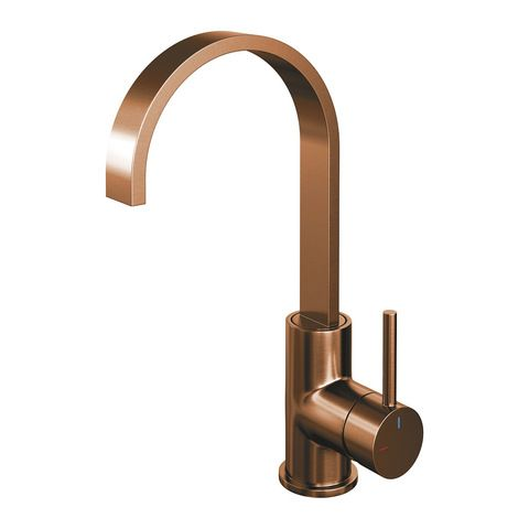 Brauer Copper Edition wastafelkraan hoog cascade - hendel 1 - geborsteld koper PVD