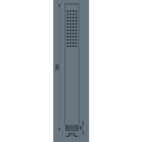Brauer Copper Edition inbouw badthermostaat met uitloop geborsteld koper PVD - staafhanddouche