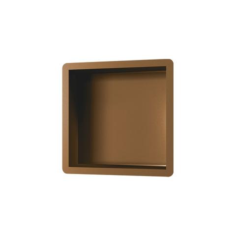 Brauer Copper Edition inbouw nis 30x30 cm geborsteld koper PVD