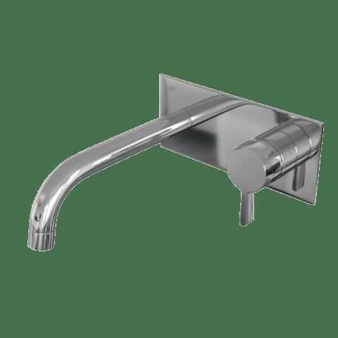 Brauer Chrome Edition inbouw wastafelkraan met achterplaat - hendel 2 - chroom