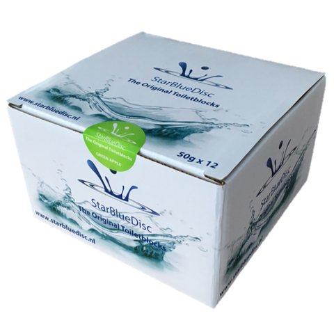Starbluedisc  toiletblokjes halfjaarverpakking a 12 stuks groen groen
