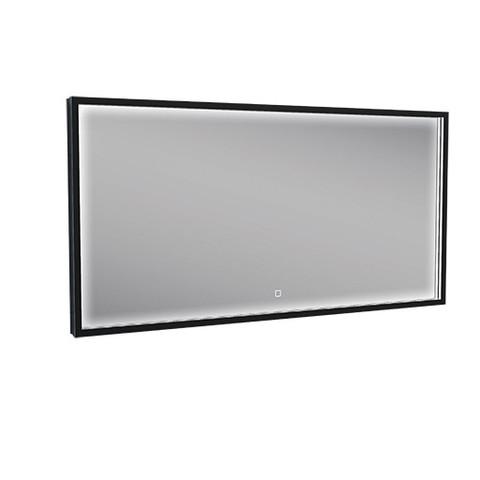 Wiesbaden Maro spiegel met LED verlichting & verwarming 120 x 60 cm mat zwart