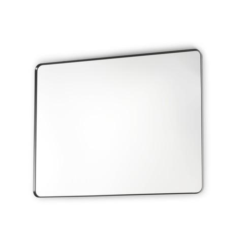 Blinq Intent spiegel rechthoekig ronde hoeken 80x100 mat zwart