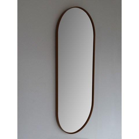 Blinq Intent spiegel ovaal met lijst 90x38 cm mat zwart