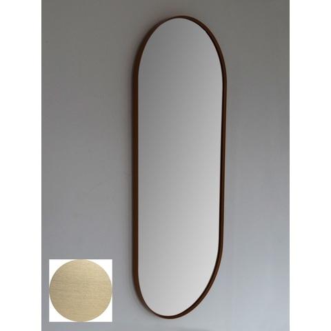 Blinq Intent spiegel ovaal met lijst 90x38 cm mat goud mat goud