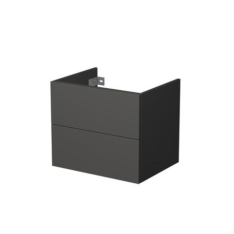 Blinq Veille wastafelonderkast 60x45,5x50cm 2 la mat antraciet antraciet