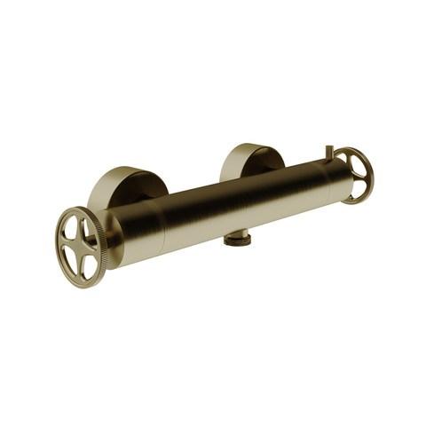 vtwonen Baden Flame douchethermostaat met industriele greep bronze