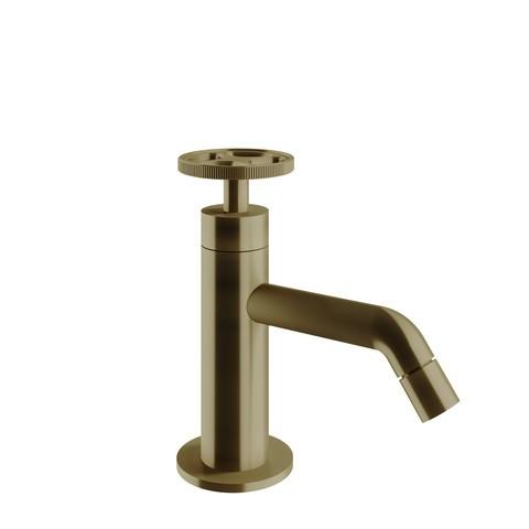 vtwonen Baden Flame fonteinkraan met industriele greep bronze