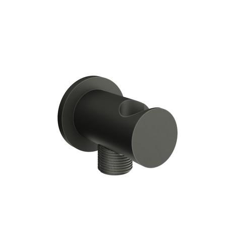vtwonen Baden Solid slangaansluitknie met opsteek black steel