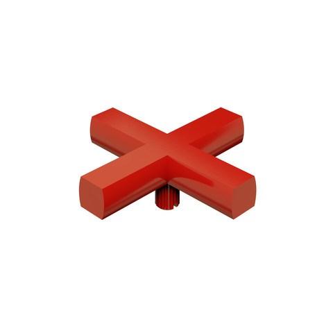 vtwonen Baden Cross kruisgreep voor kraan rood