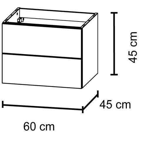 Bruynzeel Bando/ Combo Onderbouwkast 60cm | 2 laden- greeplijst - zwart eiken