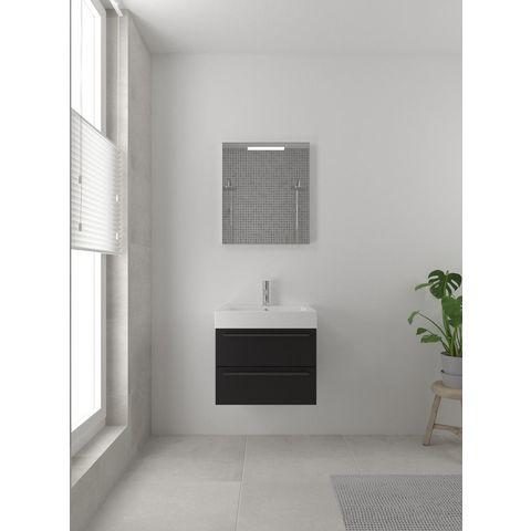 Bruynzeel Bando/ Combo Onderbouwkast 60cm   2 laden- greeplijst - zijde zwart