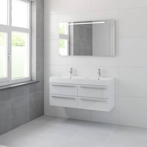 Bruynzeel Bando/ Combo Onderbouwkast 120cm | 4 laden- greeplijst - glans wit