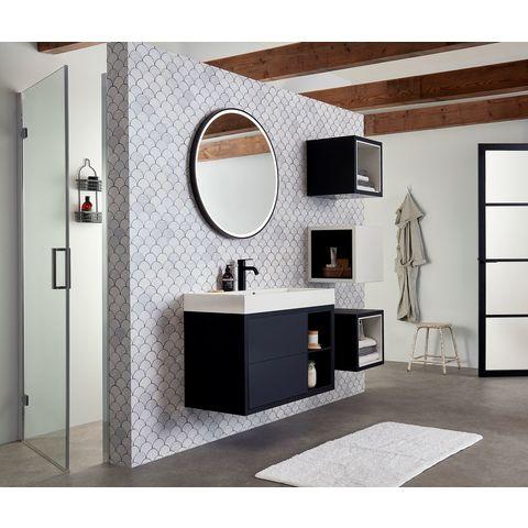 Bruynzeel Box/Combo meubelwastafel 90x45cm | één kraangat- wit