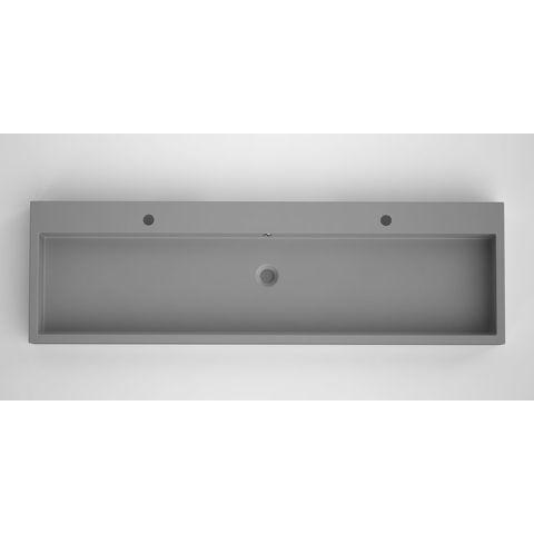 Bruynzeel Box/Combo meubelwastafel 150x45cm enkele waskom | twee kraangaten- betonlook