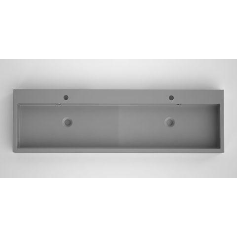 Bruynzeel Box/Combo meubelwastafel 150x45cm dubbele kom | twee kraangaten- betonlook