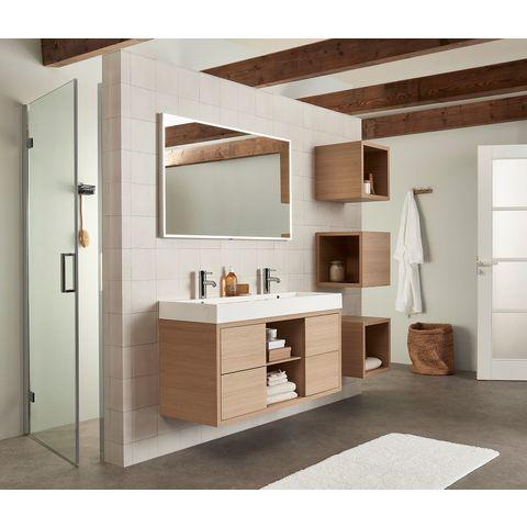 Bruynzeel Box Onderbouwkast 120cm | 4 laden | openvak midden- natuur eiken