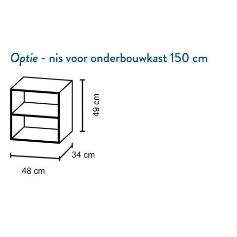 Bruynzeel Box Nis voor onderbouwkast 150cm- fjord groen