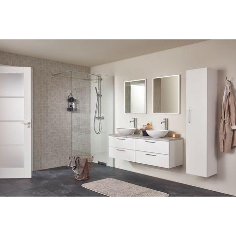 Bruynzeel Combo badmeubelset 120 cm | spiegel bovenblad wit marmer - gladstone