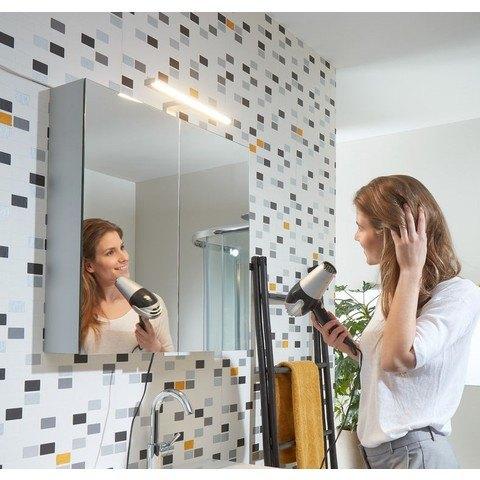 Bruynzeel Combo badmeubelset 120 cm | spiegelkast bovenblad wit marmer - kasjmier grijs