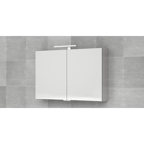 Bruynzeel Giro badmeubelset 100 cm   spiegelkast bovenblad mat wit - mat wit