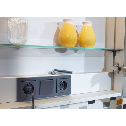 Bruynzeel Giro badmeubelset 100 cm | spiegelkast bovenblad kasjmier grijs - kasjmier grijs