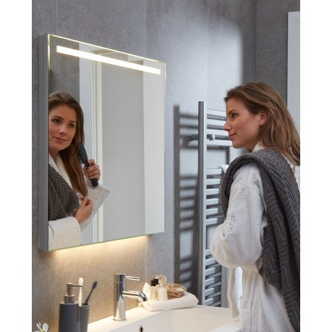 Bruynzeel Giro badmeubelset 120 cm dubbel   spiegel bovenblad natuur eiken - natuur eiken