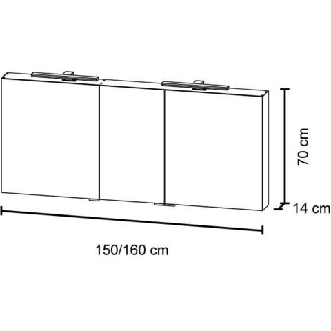Bruynzeel Giro badmeubelset 150 cm dubbel | spiegelkast bovenblad gladstone - gladstone