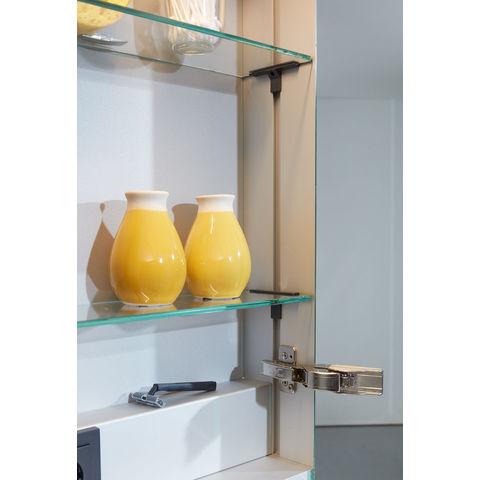 Bruynzeel Giro badmeubelset 120 cm dubbel | spiegelkast bovenbladwit marmer - orlando eiken