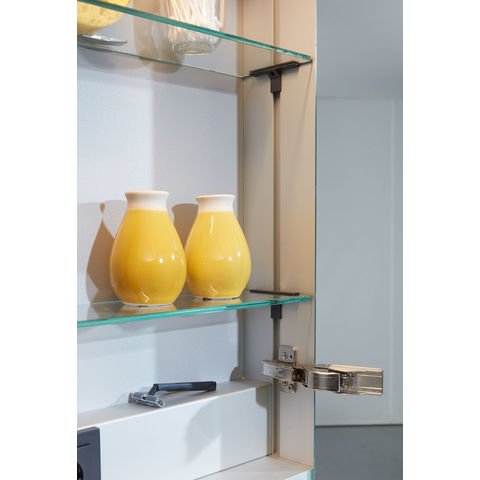 Bruynzeel Giro badmeubelset 150 cm dubbel | spiegelkast bovenblad wit marmer - bardolino