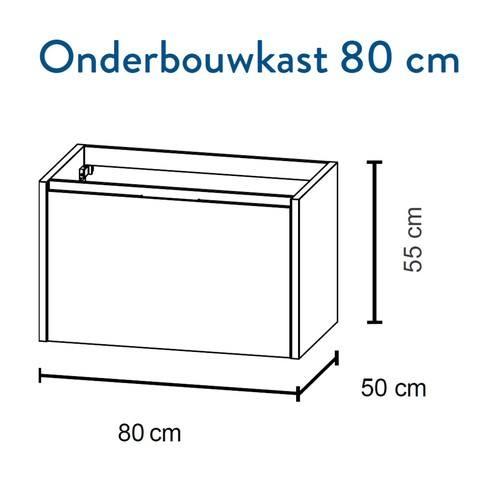 Bruynzeel Matera Onderbouwkast 80cm- glans wit