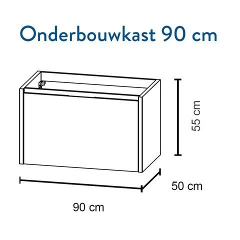 Bruynzeel Matera Onderbouwkast 90cm- grafiet