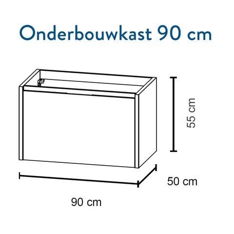 Bruynzeel Matera Onderbouwkast 90cm- kasjmier grijs