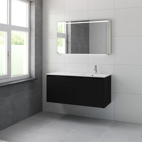 Bruynzeel Matera Onderbouwkast 120cm voor wastafel links/rechts- zijde zwart