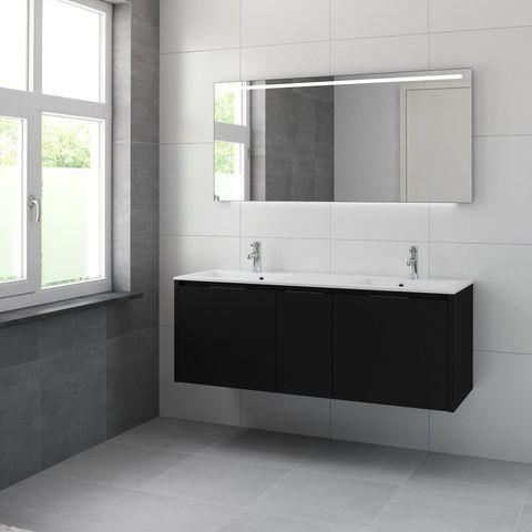 Bruynzeel Matera Onderbouwkast 150cm voor dubbele wastafel- zijde zwart