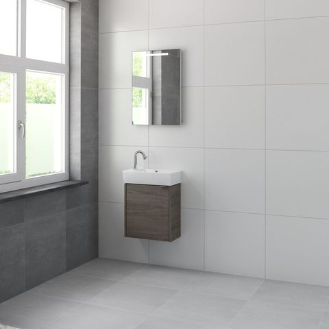 Bruynzeel Doro Fonteinmeubelset 50 cm | spiegel- orlando eiken