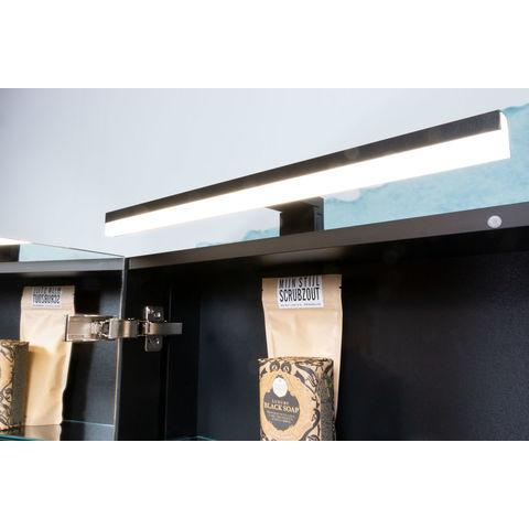 Bruynzeel spiegelkast zonder verlichting | 80cm - zwart