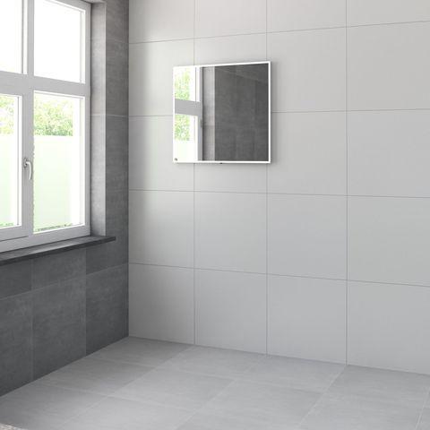 Bruynzeel spiegel met LED kader rondom en spiegelverwarming   75 cm- aluminium