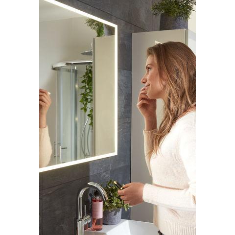 Bruynzeel spiegel met LED kader rondom en spiegelverwarming | 150 cm- aluminium