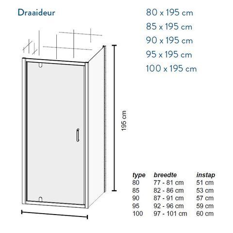 Bruynzeel Cilo draaideur 95cm